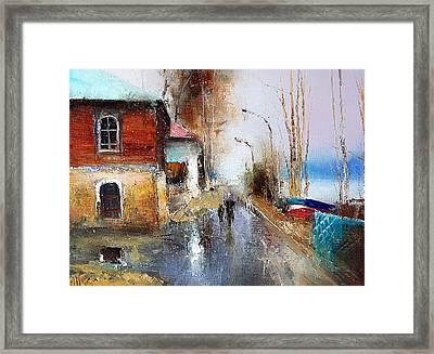 April. The River Volga Framed Print by Igor Medvedev