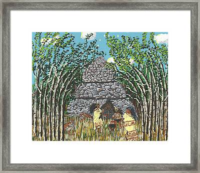 April  The Shaman Calls The Jaguars Framed Print