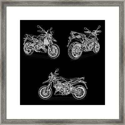Aprilia Smv 900 Dorsoduro Drawing Framed Print by PixBreak Art