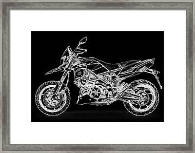 Aprilia Smv 900 Dorsoduro Framed Print by PixBreak Art