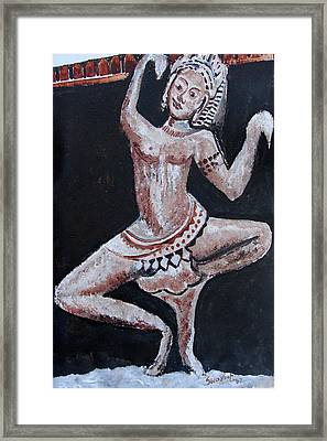 Framed Print featuring the painting Apsara-2 by Anand Swaroop Manchiraju