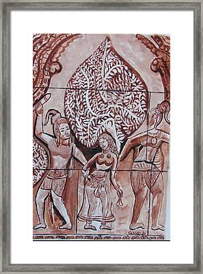 Framed Print featuring the painting Apsara Be.ing Taken Away by Anand Swaroop Manchiraju