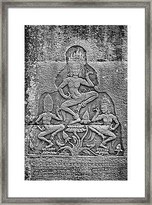 Framed Print featuring the photograph Apsaras 3, Angkor, 2014 by Hitendra SINKAR