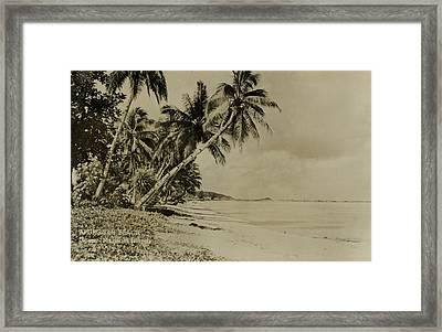Apurguan Beach Guam Marianas Islands Framed Print