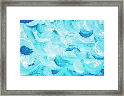 Aqua Abstract Painting Framed Print by Christina Rollo