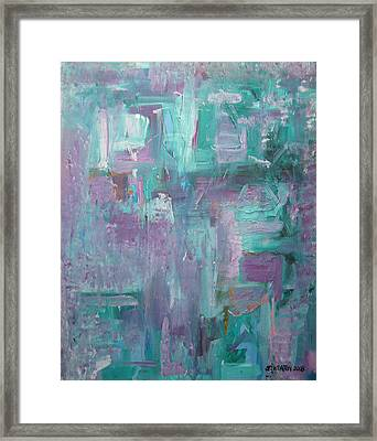 Aqua And Violet Enigma Framed Print by John Keaton