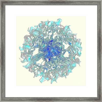 Aqua Art By Kaye Menner Framed Print