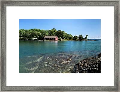 Aqua Bold Framed Print