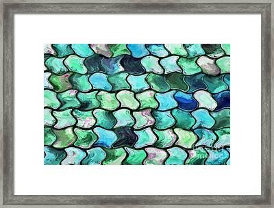 Aqua Cynosure Framed Print by Krissy Katsimbras