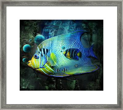 Aqua Fantasy Art World Framed Print