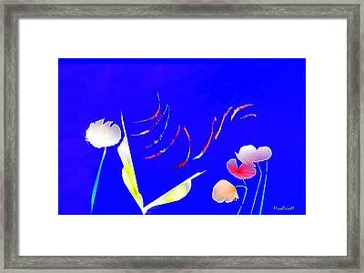 Aqua Flora Framed Print by Asok Mukhopadhyay