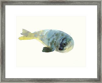 Aqua Green Framed Print