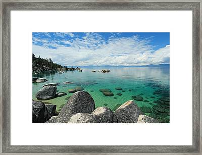 Aqua Heaven Framed Print