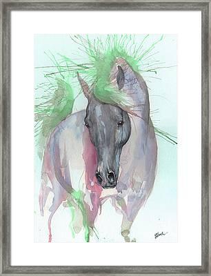 Aqua Horse Framed Print