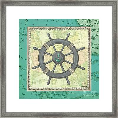Aqua Maritime Framed Print by Debbie DeWitt