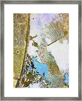 Aqua Metallic Series Free Framed Print