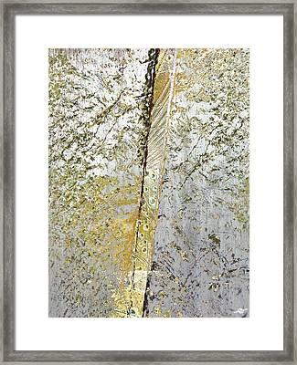 Aqua Metallic Series Gold Rush Framed Print