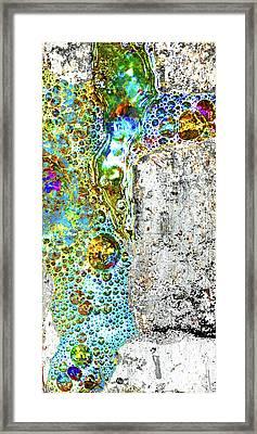 Aqua Metallic Series Crucifix Framed Print