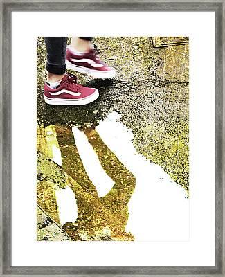 Aqua Metallic Series Dance Framed Print