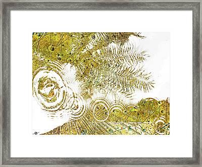 Aqua Metallic Series Skip Framed Print