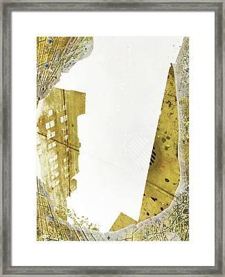 Aqua Metallic Series Together Apart Framed Print
