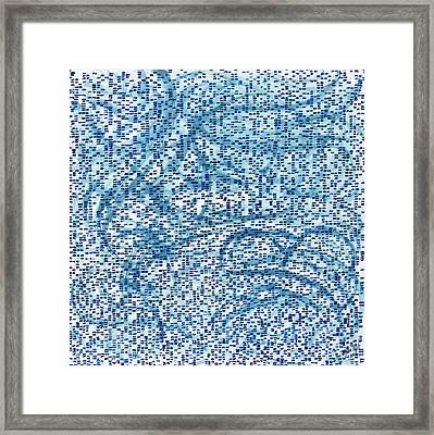 Aqua Minerale Framed Print by Joan De Bot
