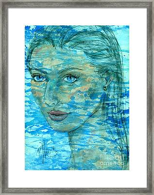 Aqua Framed Print by P J Lewis