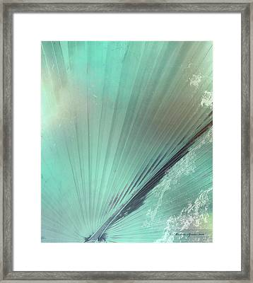 Aqua Palm Frond Rh Framed Print by Marvin Spates