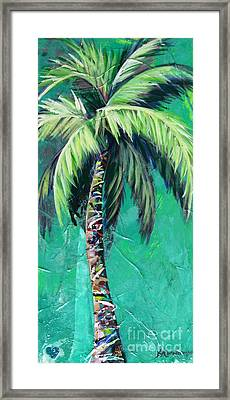 Aqua Palm Framed Print