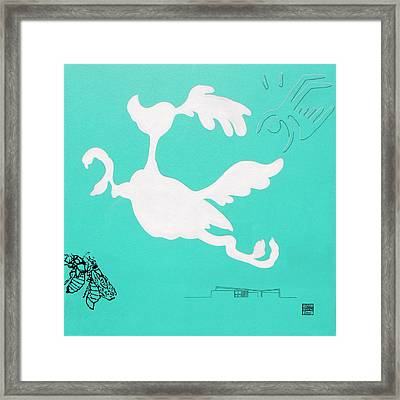 Aqua Palm Springs Idyll Framed Print by Stan  Magnan