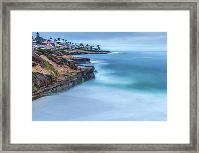 Aqua Framed Print by Peter Tellone
