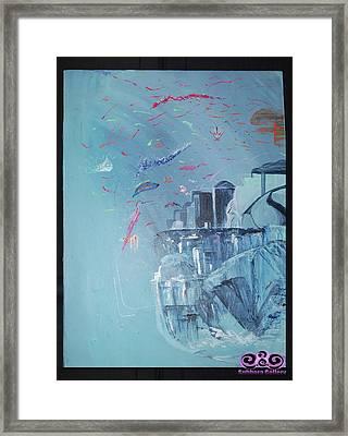Aqua Resort Framed Print