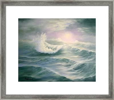 Aqua Sea Framed Print