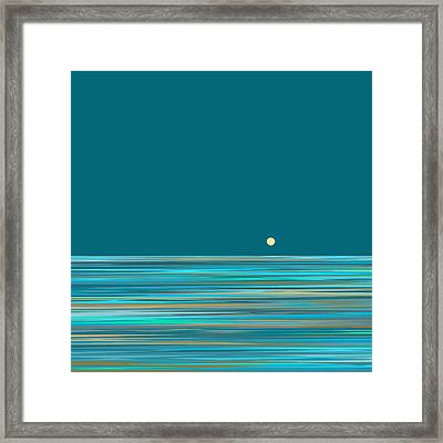 Framed Print featuring the digital art Aqua Sea by Val Arie