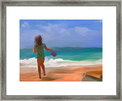 Aqua Seas Framed Print by Patti Siehien