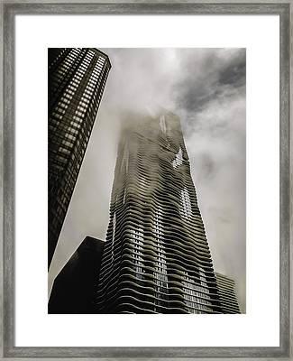 Aqua Skyscraper Framed Print