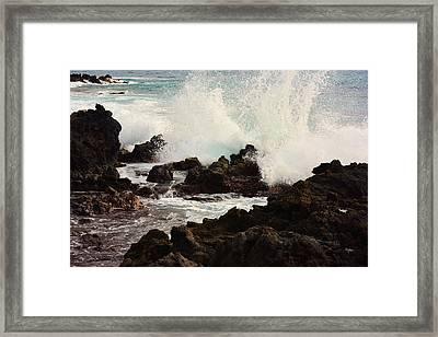 Aqua Splash Framed Print by Paulette B Wright