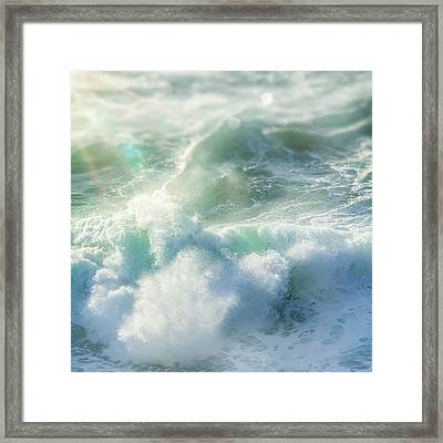 Framed Print featuring the photograph Aqua Surge by Amy Weiss