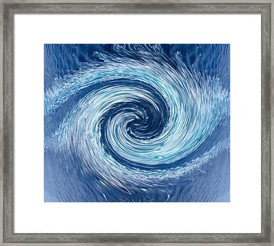 Aqua Swirl Framed Print by Keith Armstrong