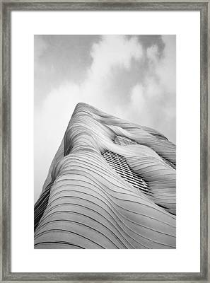 Aqua Tower Framed Print by Scott Norris