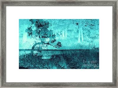 Aqua Vision Framed Print by Mickey Harkins