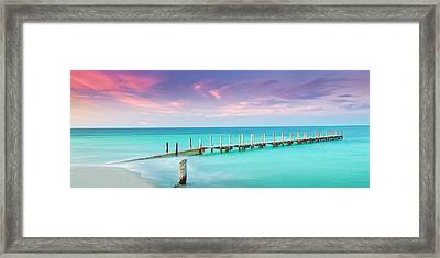 Aqua Waters  Framed Print