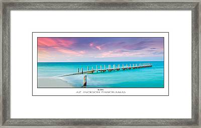 Aqua Waters Poster Print Framed Print by Az Jackson