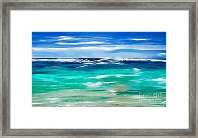 Aqua Waves Framed Print