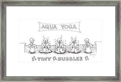 Aqua Yoga Framed Print