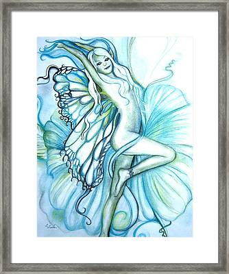 Aquafairie Framed Print by L Lauter