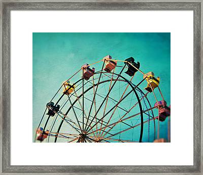 Aquamarine Dream - Ferris Wheel Art Framed Print by Melanie Alexandra Price