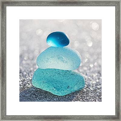 Aquamarine Ice Framed Print