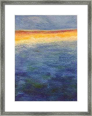 Framed Print featuring the pastel Aquamarine by Norma Duch