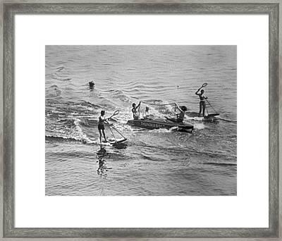 Aquaplane Tennis Framed Print